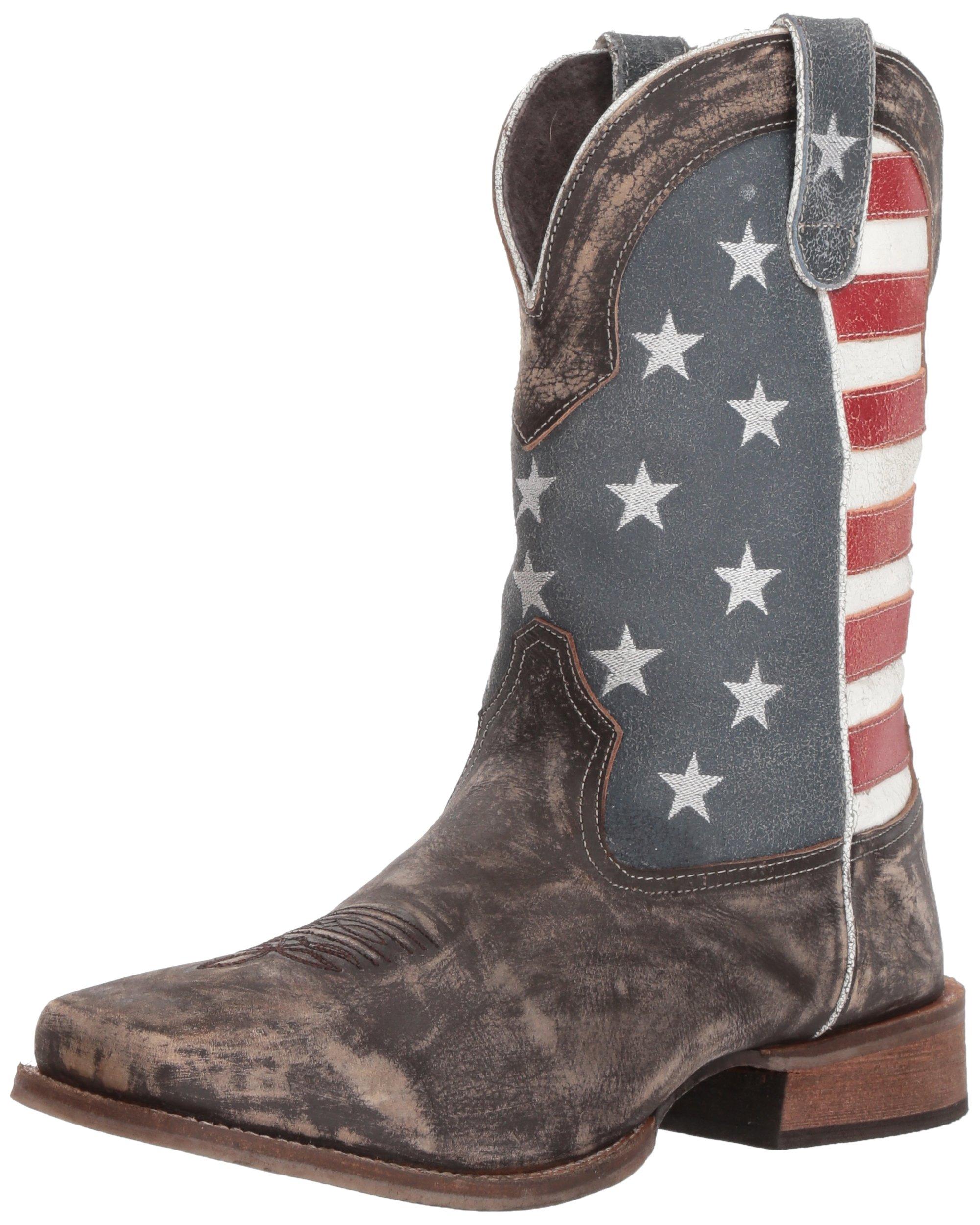 Roper Men's America Western Boot, Brown, 9.5 EE Wide US