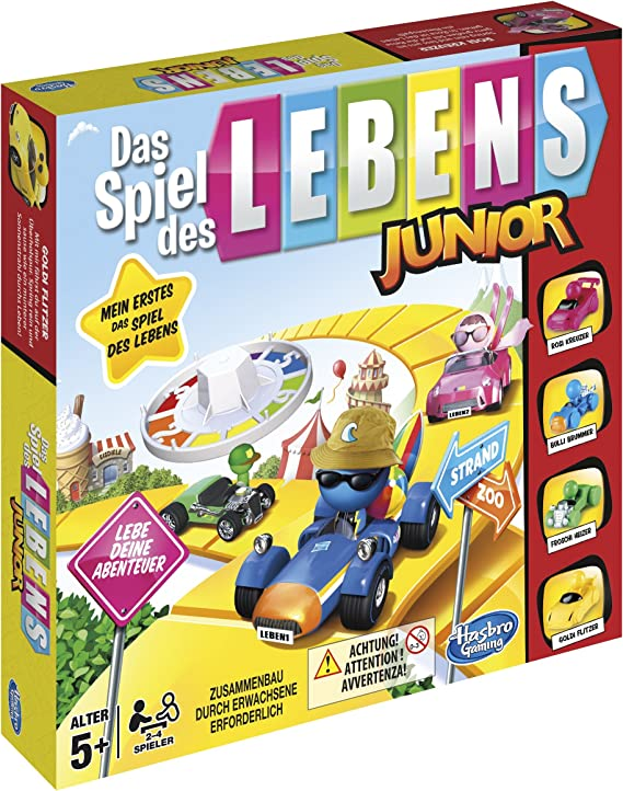 Hasbro The Game of Life Junior Game - Juego de Tablero: Amazon.es ...