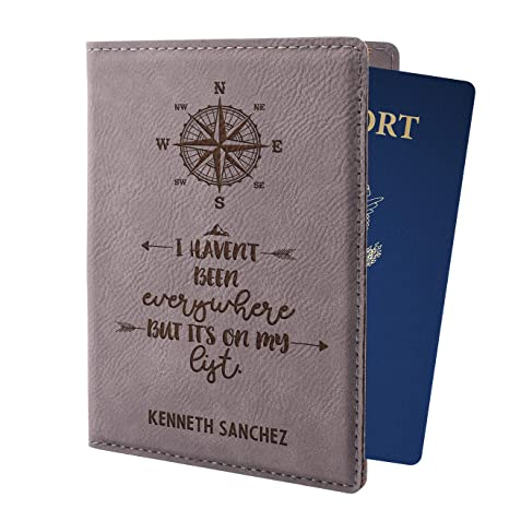 d21c59df321f Personalized Passport Holder for Women Man Custom Passport Cover 8  Different Colors Customizable With Name Christmas Traveler Gifts For Him  Her | ...