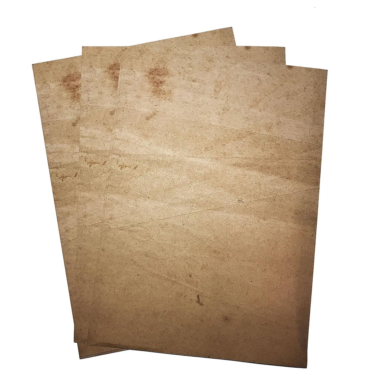 Estilo Vintage - Papel Papyrus efecto - doble cara impresión - 90 ...