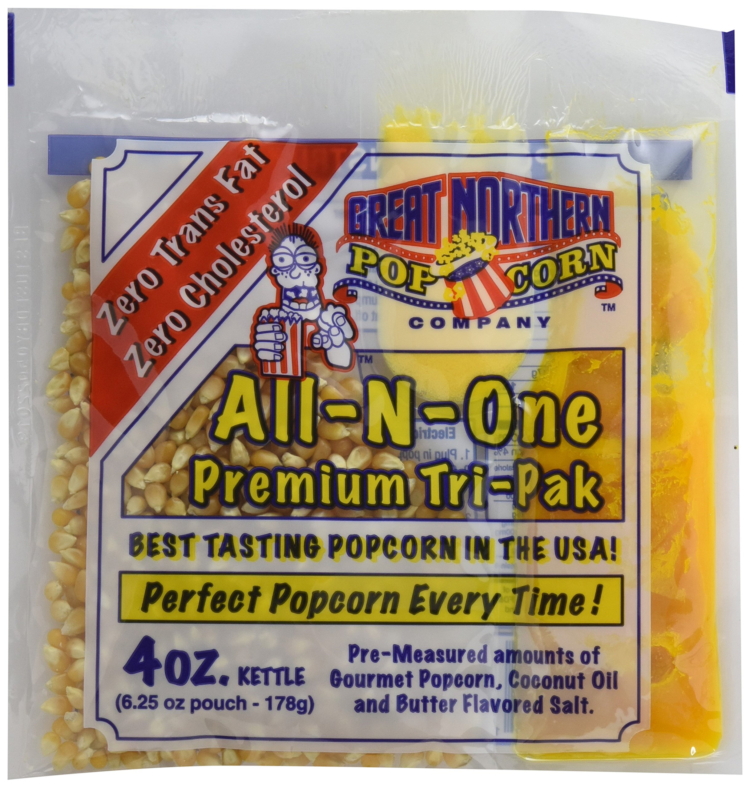 Great Northern Popcorn 4 Ounce Premium Popcorn Portion Packs, Case of 24 by Great Northern Popcorn Company