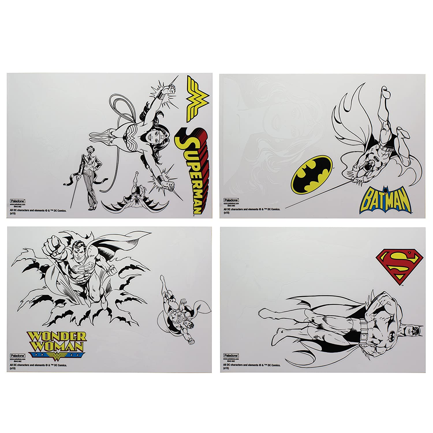 DC Comics PP4424DC Gadget Decals Re-Usable Waterproof Stickers, Multi-Colour, 1 x 15 x 21 cm Paladone