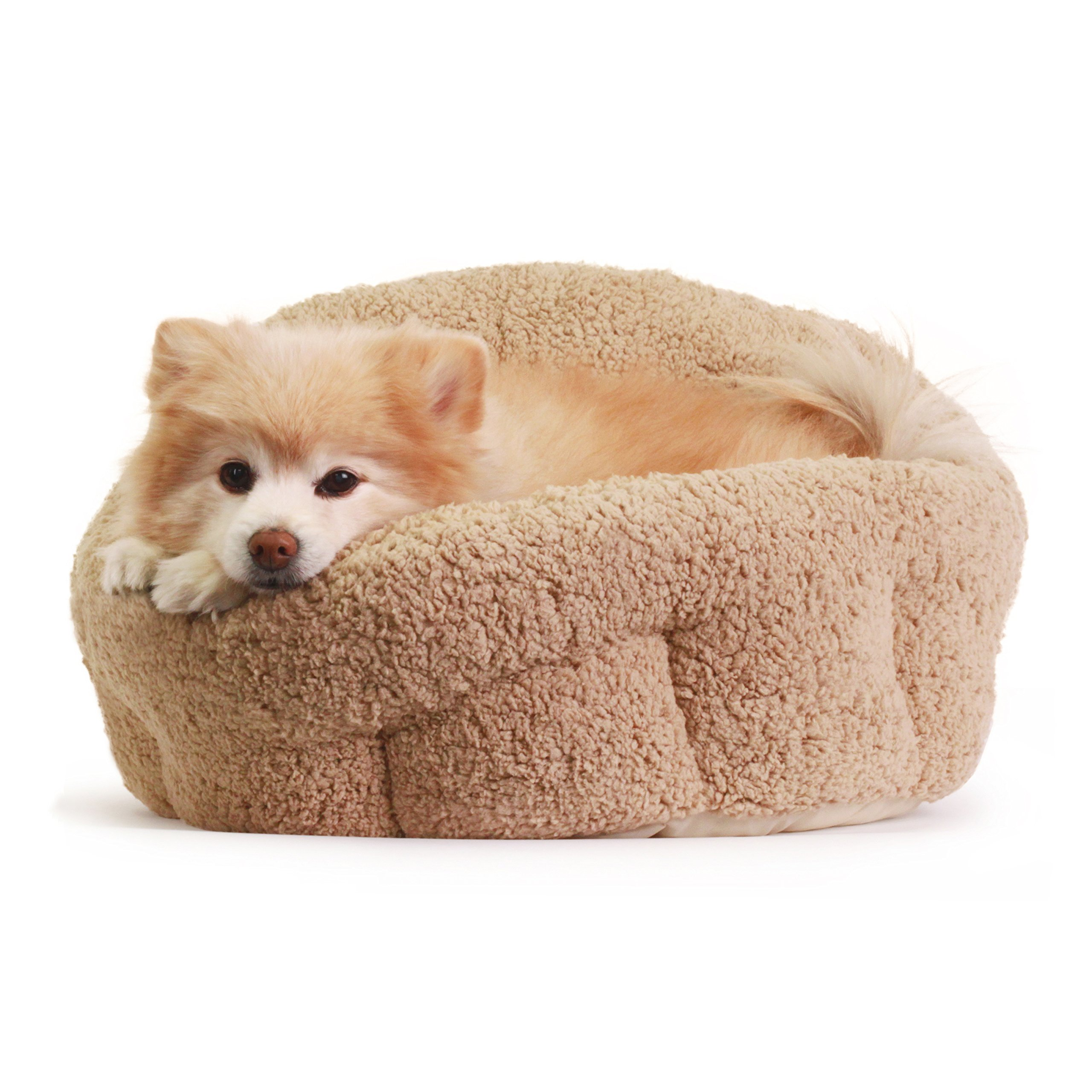 Best Friends by Sheri OrthoComfort Deep Dish Cuddler (20x20x12'') - Self-Warming Cat and Dog Bed Cushion for Joint-Relief and Improved Sleep - Machine Washable, Waterproof Bottom - For Pets Up to 25lbs by Best Friends by Sheri