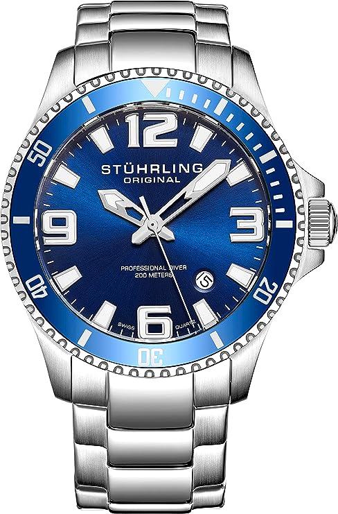 5. Stuhrling Original Swiss Quartz Men's Diving Watch (Aquadiver 395.33U16)