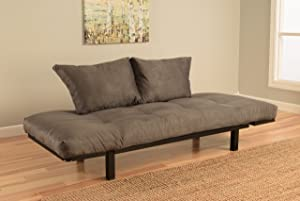 Kodiak Best Futon Lounger - Mattress ONLY - Sit Lounge Sleep - Small Furniture for College Dorm, Bedroom Studio Apartment Guest Room Covered Patio Porch (Gray)
