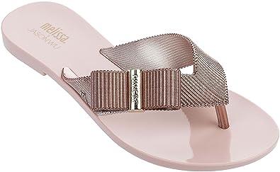 2334b8f35d631 Melissa Girl Chrome Jason Wu Rose Gold Womens Flip-Flop Size 5M