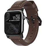 Nomad Traditional Strap for Apple Watch 44mm/42mm | Rustic Brown Horween Leather | Black Hardware