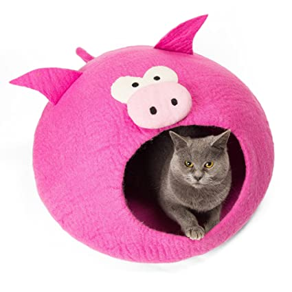 Amazon.com : Twin Critters - Handcrafted Cat Cave Bed (Large) I ...