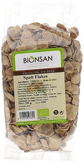 Bionsan Spelt Flakes Espelta y Sirope de Maíz - 3 Paquetes de 250 gr - Total