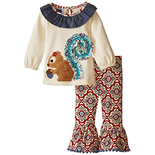 Mud Pie Baby-Girls Newborn Squirrel Tunic and Legging Set