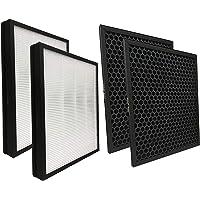 Comedes Reservefilterset geschikt voor Philips AC5659/10 luchtreiniger (5000 series)   2x HEPA en 2x actieve koolfilters…