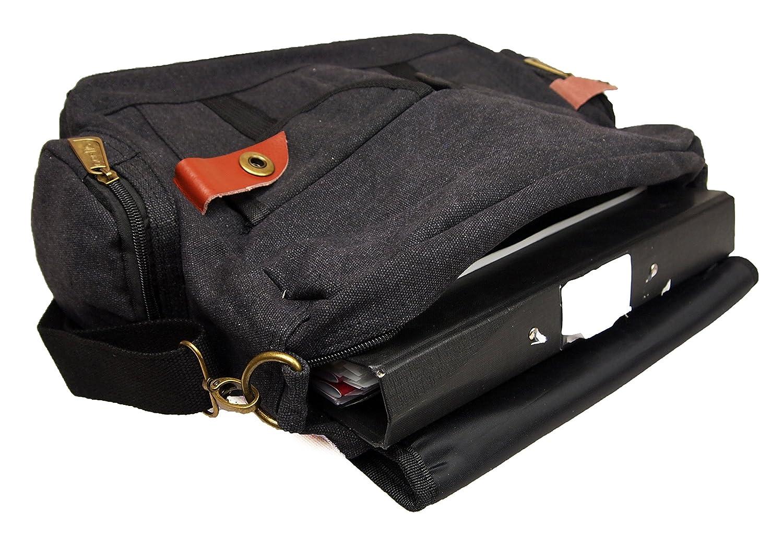 Mens Womens Canvas School Work College Laptop Uni Satchel Messenger  Shoulder Bag (Black)  Amazon.co.uk  Shoes   Bags 66d6740de9d50