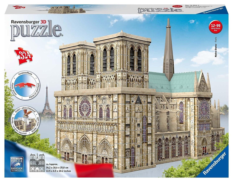 Ravensburger Erwachsenenpuzzle 12523 Notre Dame 3D-Puzzle Ravensburger Spielverlag