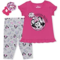 Disney 3-Piece Minnie Mouse Toddler Girls Legging Set w/Ponytail