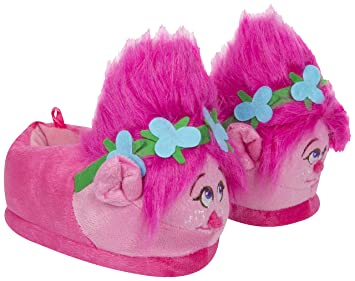 3928aff4c1c Trolls Plush Poppy 3D Slippers with Fur Trolls Hair - Perfect Christmas  Present (UK 5.5