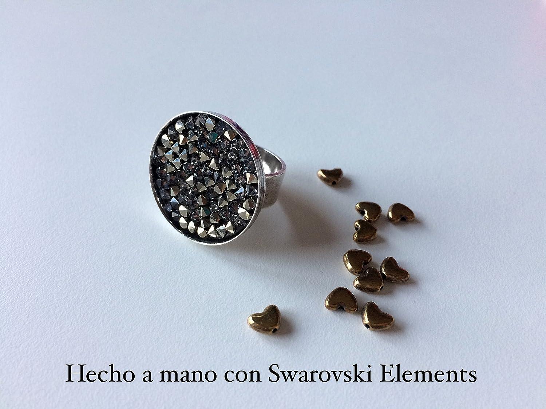 Anillo ajustable hecho con Swarovski Elements