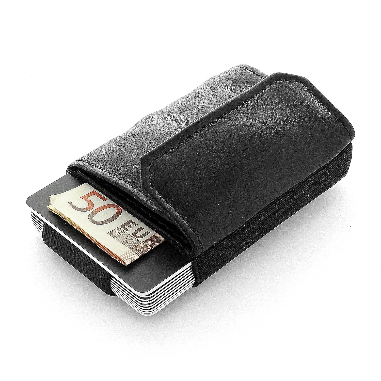 3f18e7bffe66d JAIMIE JACOBS Minimalist Wallet Nano Boy Pocket Mini Geldbörse aus Textil  mit Zugband schmaler Kartenhalter für Herren und Damen (Schwarz)   Amazon.de  ...