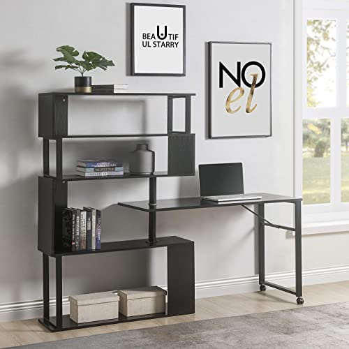 Strackvial Home Office Computer Desk L-Shaped Corner Table