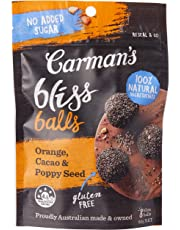 Carman's Bliss Balls Orange, Cacao and Poppy Seed 80g