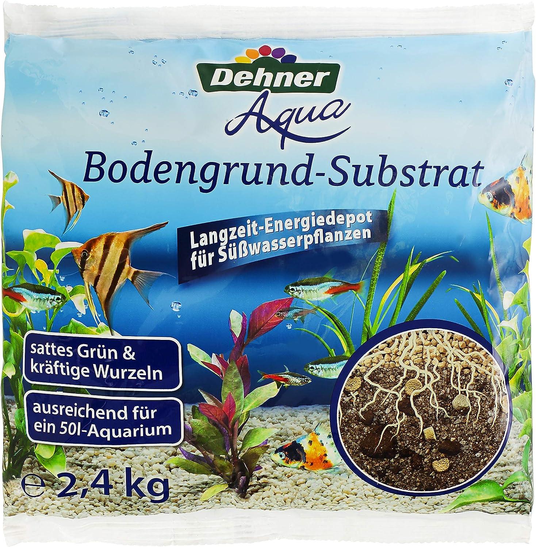 Dehner 4370003 Aqua - Sustrato para Suelo (Grano 2-4 mm, 2,4 kg, Talla M), Color Natural
