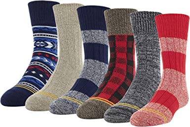 Gold Toe Boys Total Package Crew Socks 6 Pairs