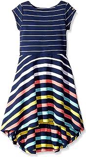 5265793b Amazon.com: Tommy Hilfiger Girls' High-Low Stripe Dress: Clothing
