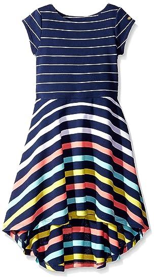 25d0bea2 Tommy Hilfiger Little Girls' Yarn Dye Engineer High-Low Dress, Flag Blue,