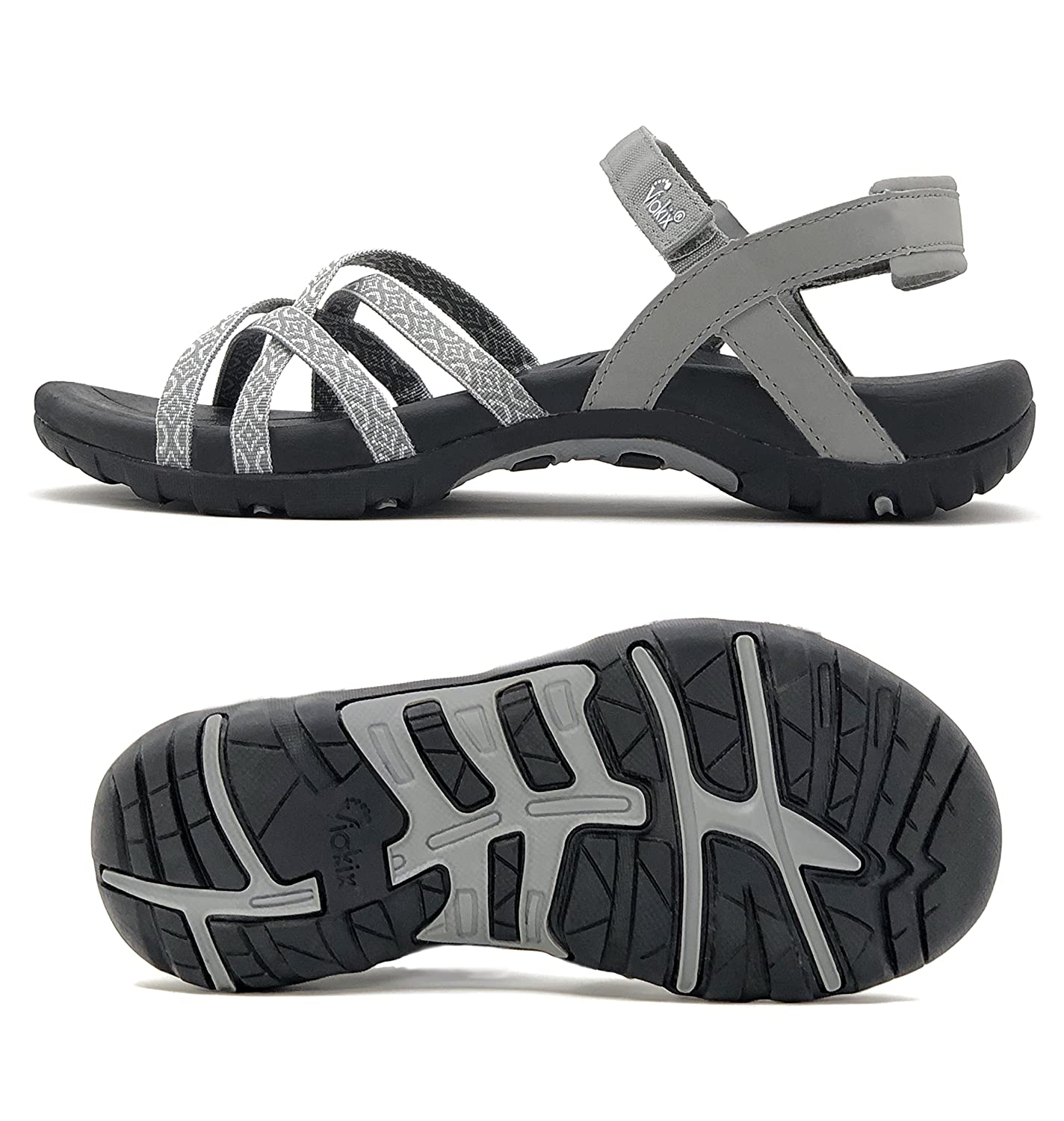 Viakix Walking Sandals for Women – Comfortable Athletic Stylish Shoes for Hiking Outdoors Beach Water Medium Width
