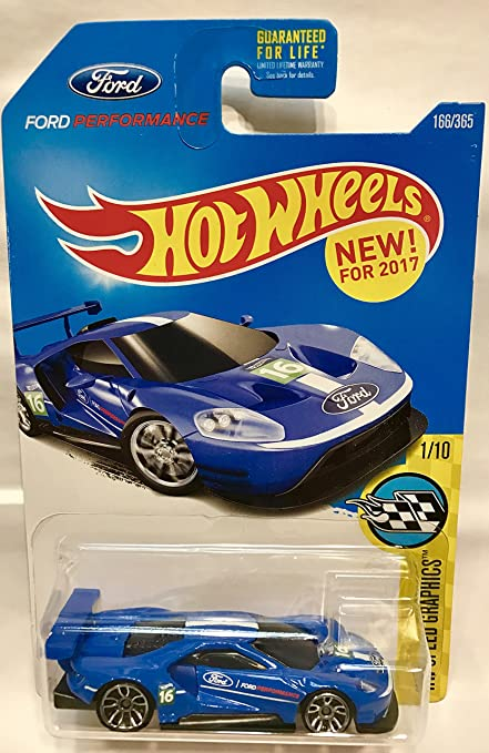 Amazon Com Hot Wheels  Hw Speed Graphics  Ford Gt Race   Blue Toys Games