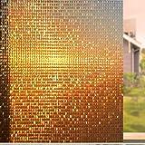 Viseeko Privacy Window Film Rainbow Static Window Clings Non-Adhesive 3D Window Decals Window Stickers for Glass Door…