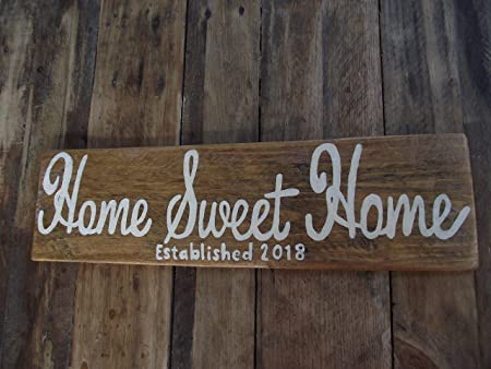 Burkewrusk Home Sweet Home Sign - Cartel de Regalo para ...