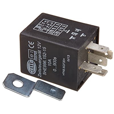 HELLA 996152151 12 Volt 5 Pin 0-900s Delay On Time Control Unit: Automotive