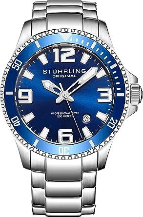 3ae5ee5ca87 Stuhrling Original Mens Swiss Quartz Stainless Steel Sport Analog Dive Watch
