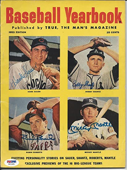 8c6d2b26c Mickey Mantle & Others Signed 1953