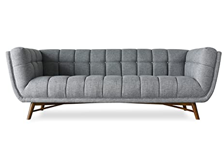 Ordinaire LOFTON Midcentury Modern Sofa   Modern Sofas For Living Room   Tufted  French Grey Fabric