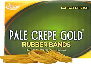 product image for Alliance Rubber 20545 Pale Crepe Gold Rubber Bands Size #54, 1 lb Box (Assorted Sizes, Golden Crepe)