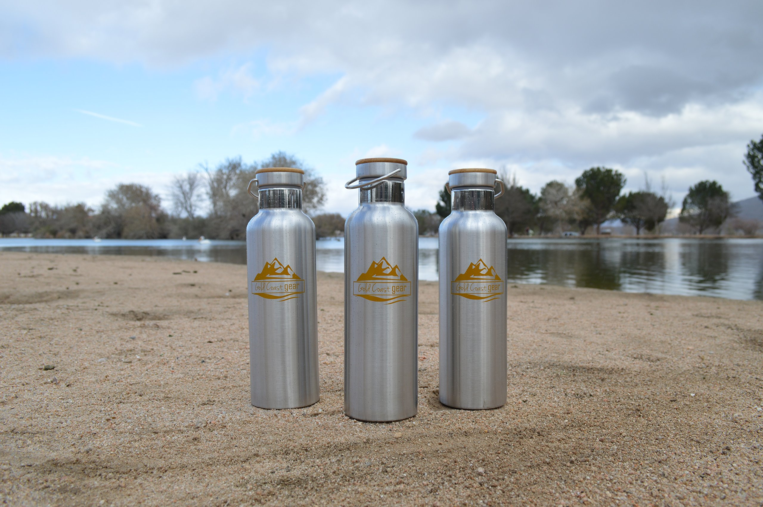 Vacuum Insulated Stainless Steel Water Bottle ( 25 OZ / 750 ML ). Zero Condensation! (750ml) by Gold Coast gear (Image #3)