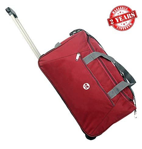 3G Atlantis Series Polyester 40 L Maroon Duffel Travel Luggage with Inner Aluminium Trolley for Unisex
