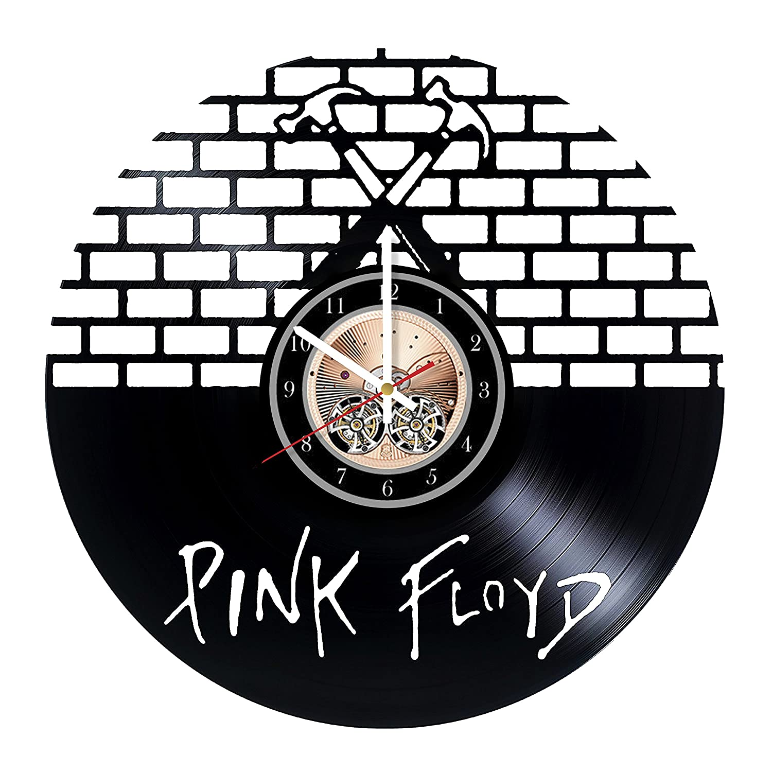 Pink Floyd English Rock Band HANDMADE Vinyl Record Wall Clock - Get unique bedroom or living room wall decor - Gift ideas for him and her