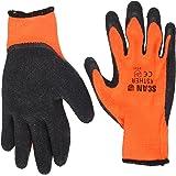 Scan GLOKSTHER Knitshell Thermal Gloves - Orange/ Black
