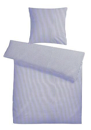Carpe Sonno Kühle Super Weiche Seersucker Bettwäsche Blau Weiß