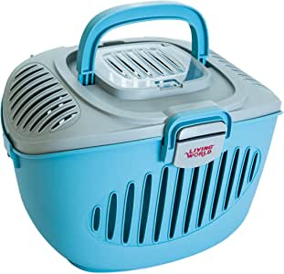 Living World Paws2Go Cat or Small Pet Carrier, Blue/Grey