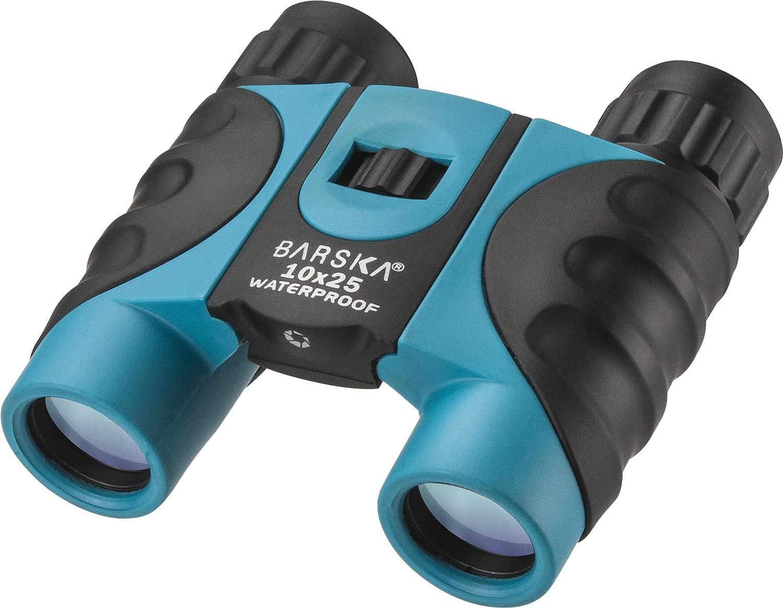 BARSKA 10x25mm Blue Waterproof Compact Binoculars