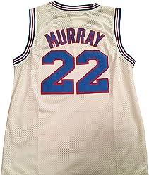 46b5cd06e5b4 Bill Murray Space Jam Jersey -  22 Tune Squad - White (Large)