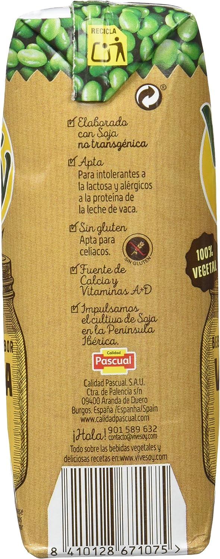 Vivesoy Bebida de Soja Vainilla - Paquete de 3 x 250 ml - Total: 750 ml - [Pack de 7]