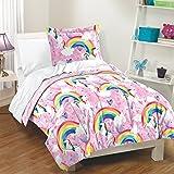 Rainbow Unicorn Girls 200 TC Cotton Comforter Set
