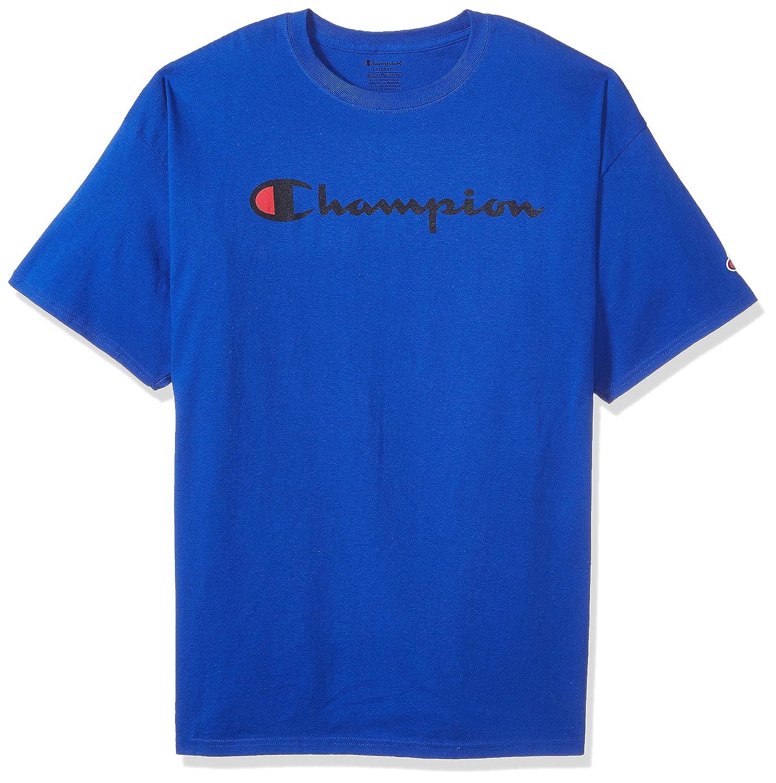 Champion Men's Classic Jersey Script T-Shirt Champion Men' s Athletic GT280