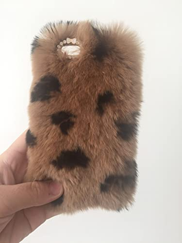 best service d7892 64f48 Amazon.com: Plush Puffy iPhone 6s Plus Case Soft Real Furry iPhone5 ...