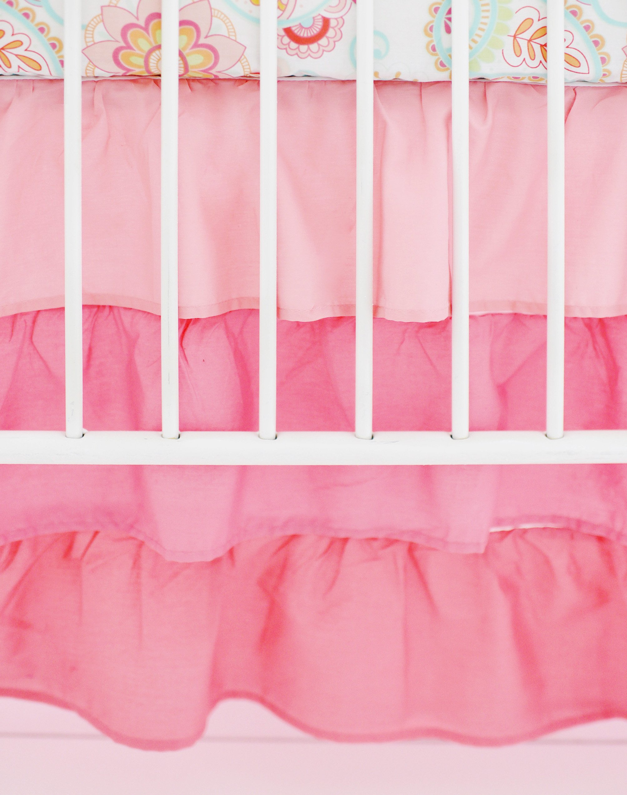 My Baby Sam Ombre Ruffled Nursery Skirt, Coral
