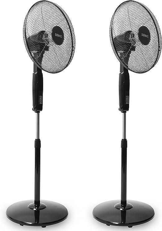 Duronic FN60 Ventilador de Pie Oscilante/Minutero Integrado/Hélice ...